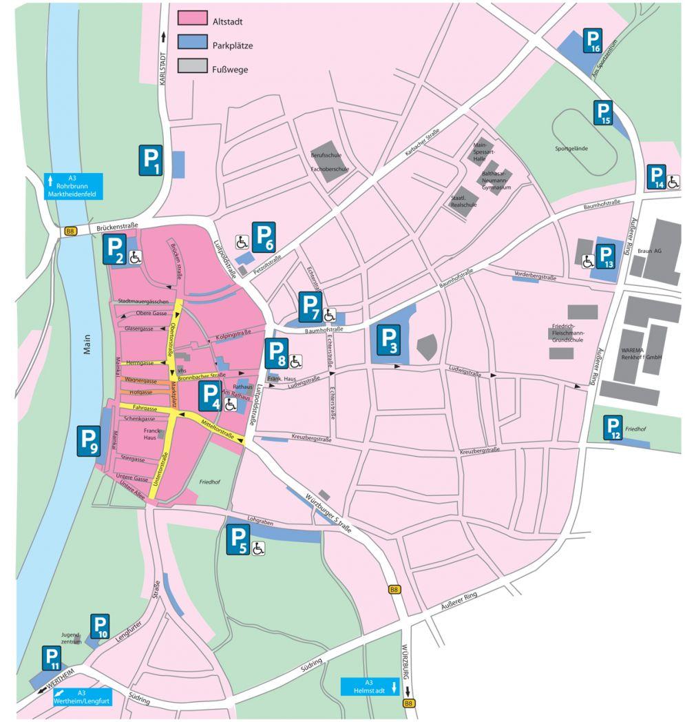 Parkplatzplan Innenstadt